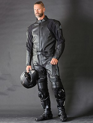 Motorcycle Black-Rider Leather Suit 2- piece 5022