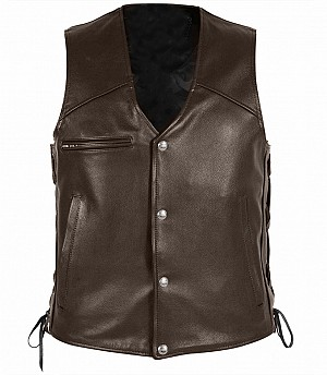 Booker Brown leather vest