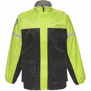 Black Specter Waterproof HI-VIS-2504 Rainproof Rain Jacket