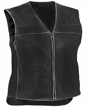 Repo vintage black leather vest