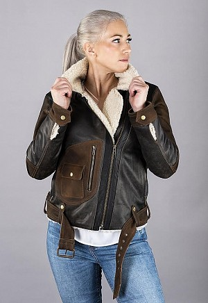 LADY AVIATOR VINTAGE SHEARLING SKINN JACKET 2002