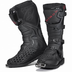 BLACK MX Enigma Black Motocross Boots (CE Level 2 Certified) 5225 cross boots