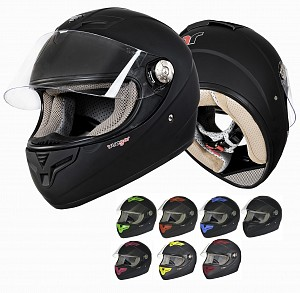 RT-823 BLACK MULTI INTEGRAL MC HELMET