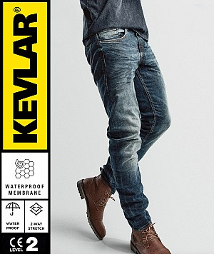 KEVLAR CRUISER WP DIRTYBLUE BOBBER MC JEANS