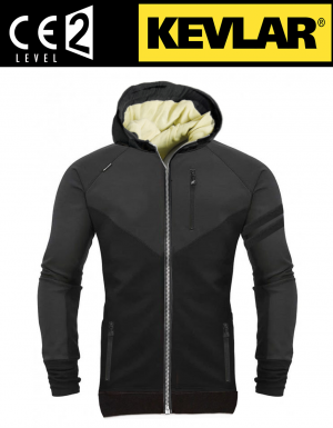 HOODIE KEV01 RETRO BIKER LEVEL-2 CE PROTECTION
