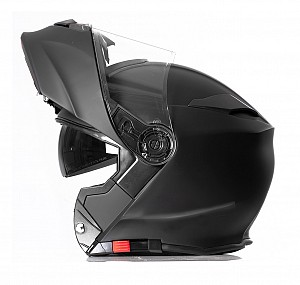 RS-982 Matt Black Openable SOLVISIR MC HELMET