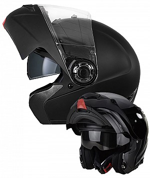 FLIP UP AERO H910 V2 BLACK MAT SOLVISIR MC HELMET