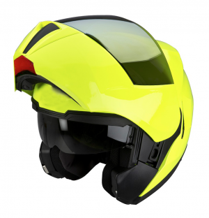 H910 MC Flip up Openable with built-in solar visor LIME NEON mc helmet