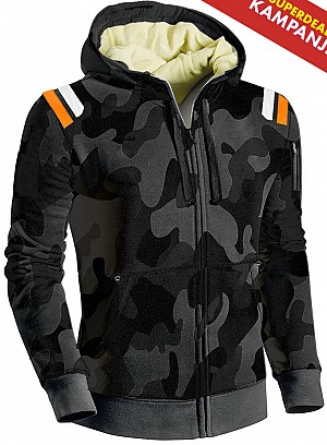 KEVLAR DARKCAMO RETRO CE PROTECTION MOTORCYCLE HOODIE SPG 09