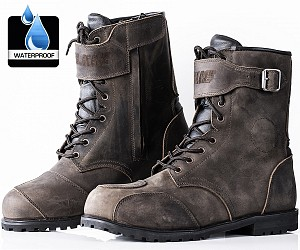 TOUR VINTAGE DISTRESSED BRAUN STIEFEL WASSERDICHT mc stövlar