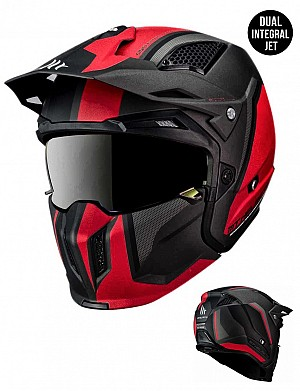 MT STREETFIGHTER SV TWIN C5 REDBLACK MATT MC / CROSS HELMET