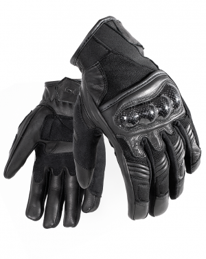 BLACK City 5188 leather mc gloves