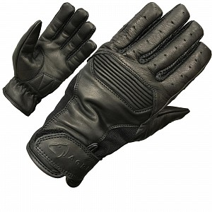 BLACK Charge Leather Motorcycle 51000106 Gloves