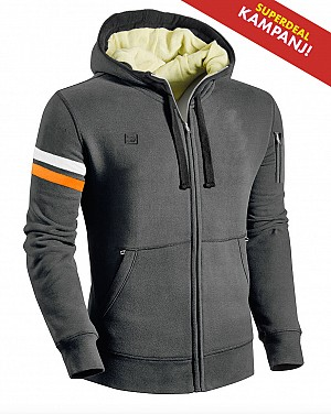 KEV01 GRAY ARMOR CE PROTECTION MC HOODIE GAH2