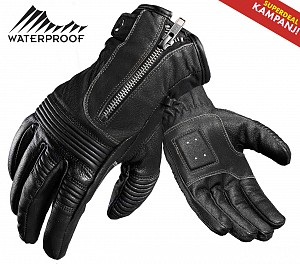 ATA HARLEY BLACK SEMISHORT CUSTOM WATERPROOF LIMITEDMC GLOVES