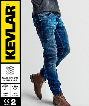 KEVLAR CRUISER WP ORIGINAL BLUE BOBBER MC JEANS
